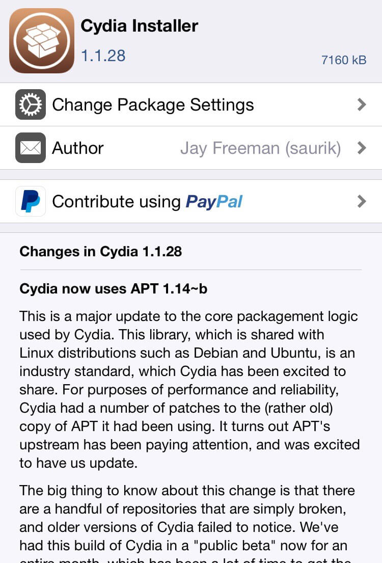 cydia 1.1.28 version finale