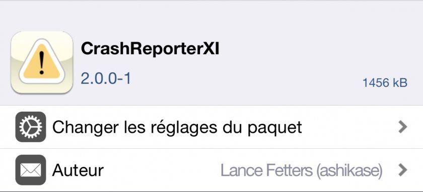 CrashReporterXI : le tweak supporte iOS 11 - iPhone Tweak
