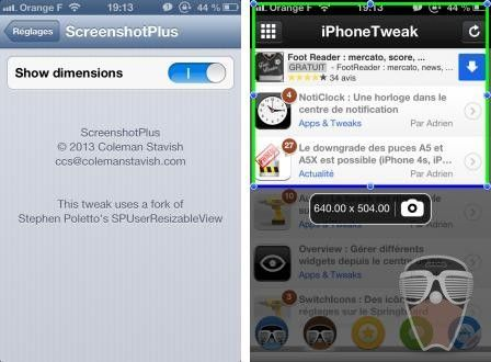 Screenshotplus s lectionner une zone de l 39 cran for Prendre photo ecran