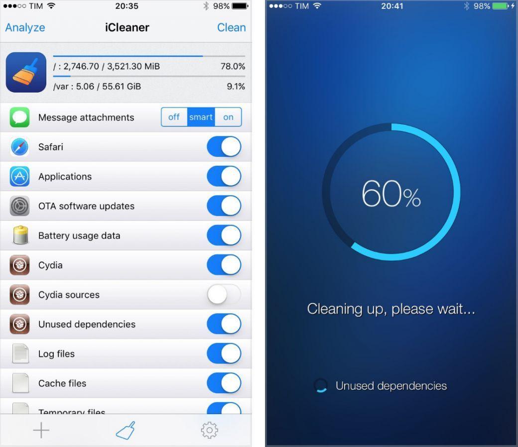 iCleaner : le tweak ultime pour nettoyer son iPhone / iPad