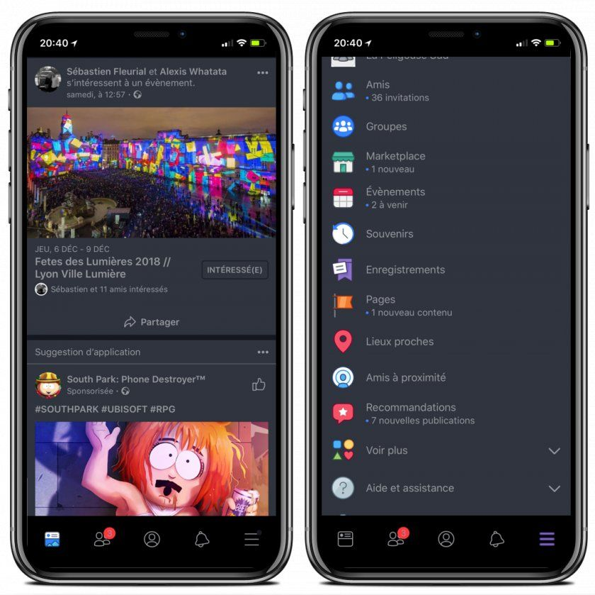 FacebookDarkMode  Un Mode Nuit pour Facebook sous iOS 11 Jailbreak ,  iPhone Tweak
