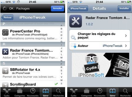 voix tomtom iphone cydia