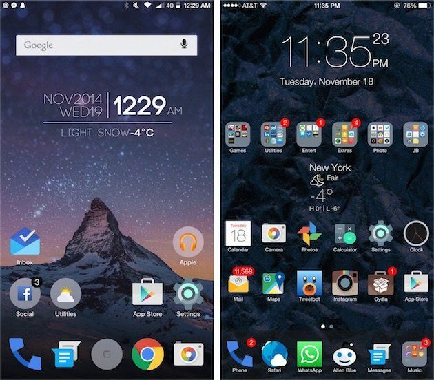 android lollipop iphone