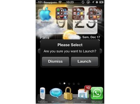 Confirm launch IOS 5